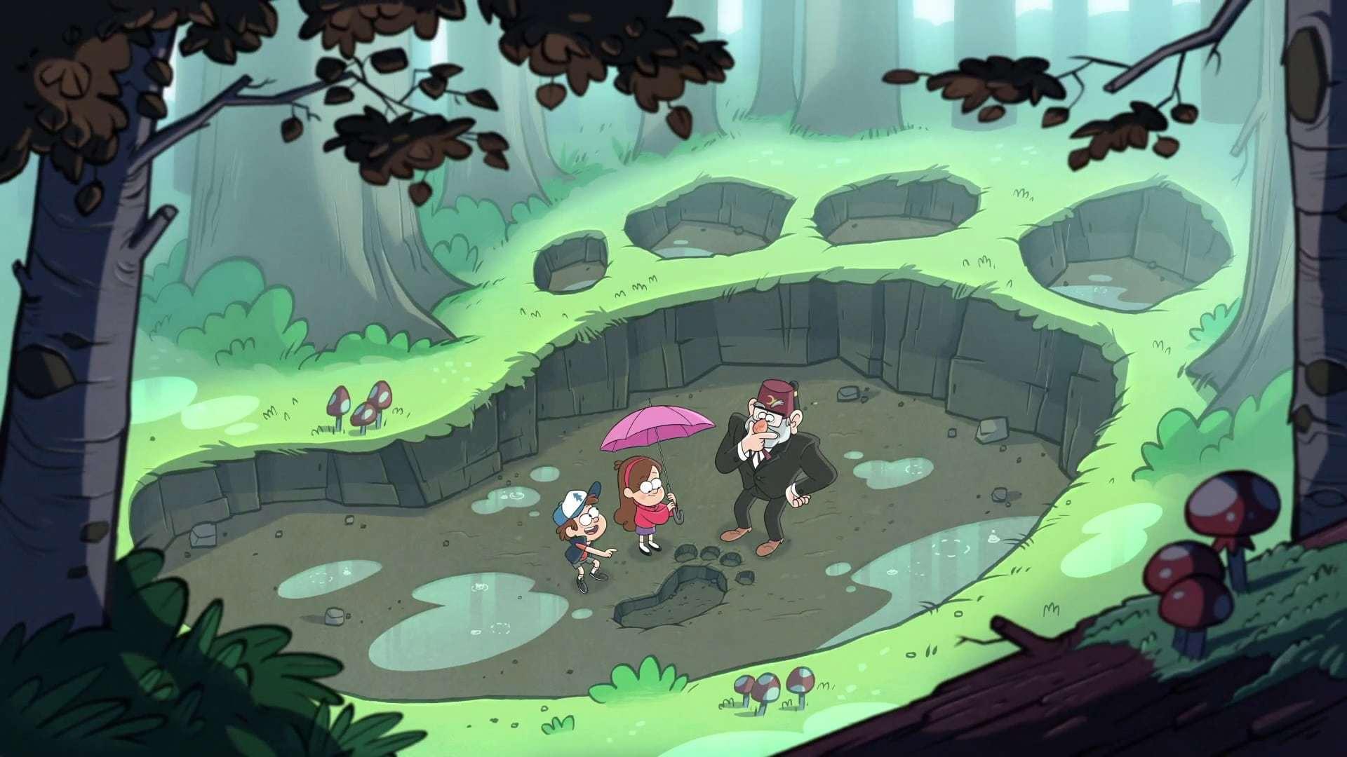 Кадры из фильма Гравити Фолз Gravity Falls 2012