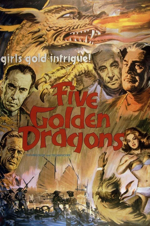 Постер фильма Пять золотых драконов 1967