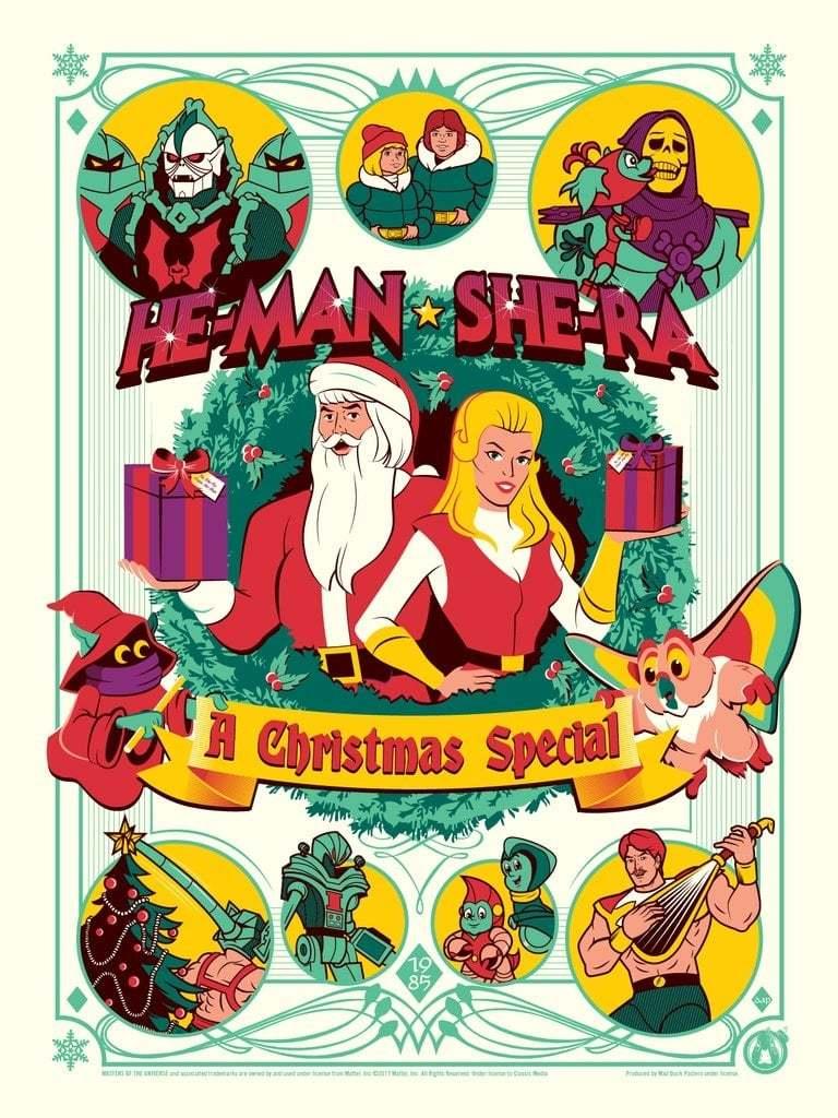 Постер фильма Хи-Мен и Ши-Ра: Рождественский выпуск 1985