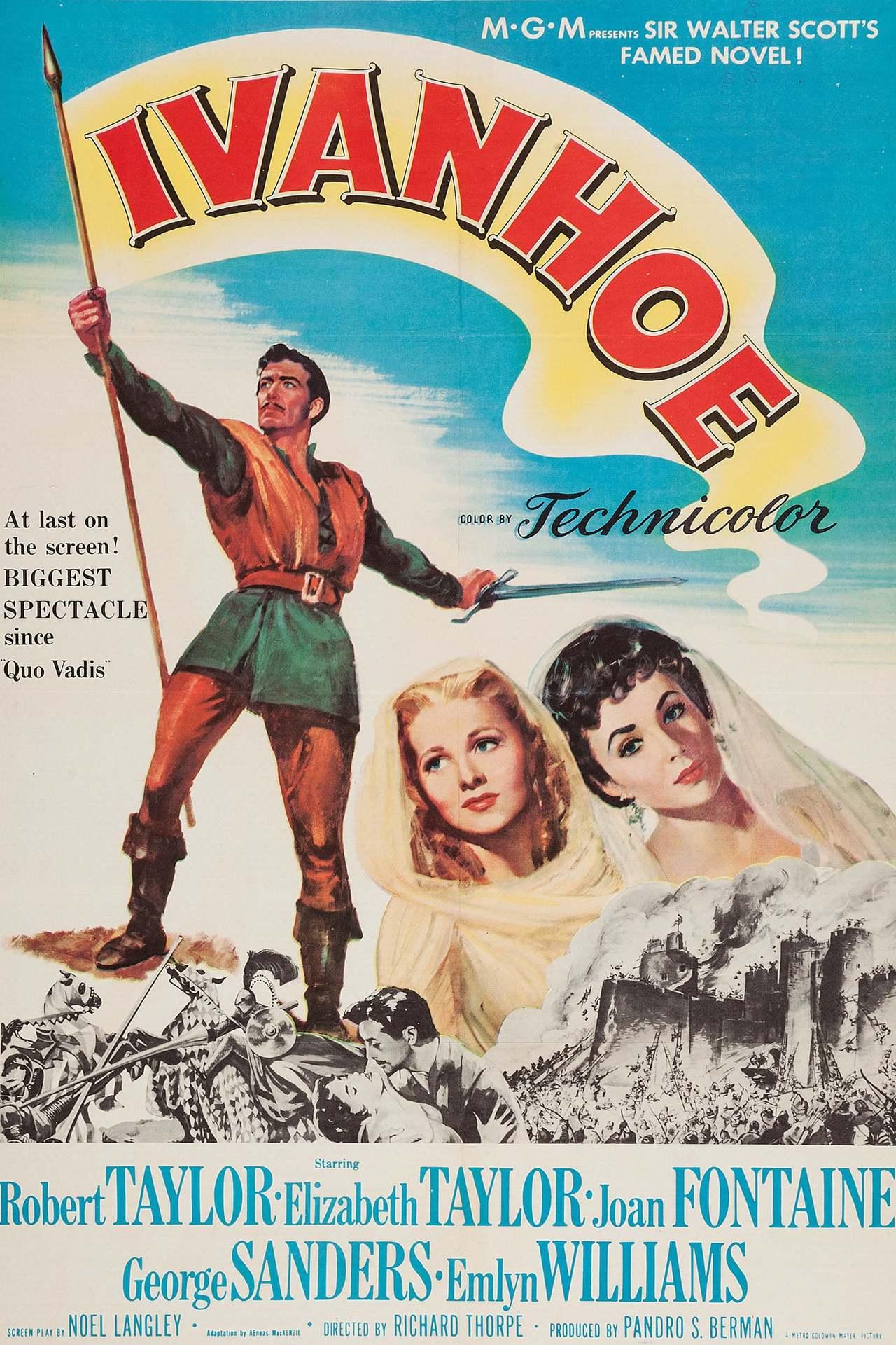Постер фильма Айвенго Ivanhoe 1952