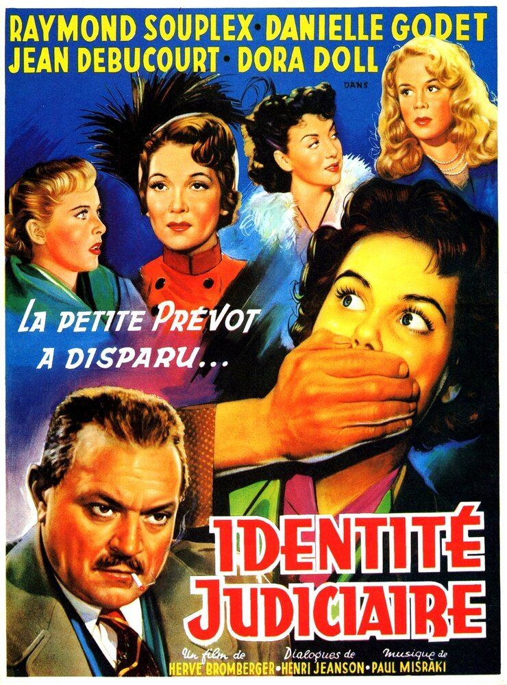 Постер фильма Identité judiciaire 1951