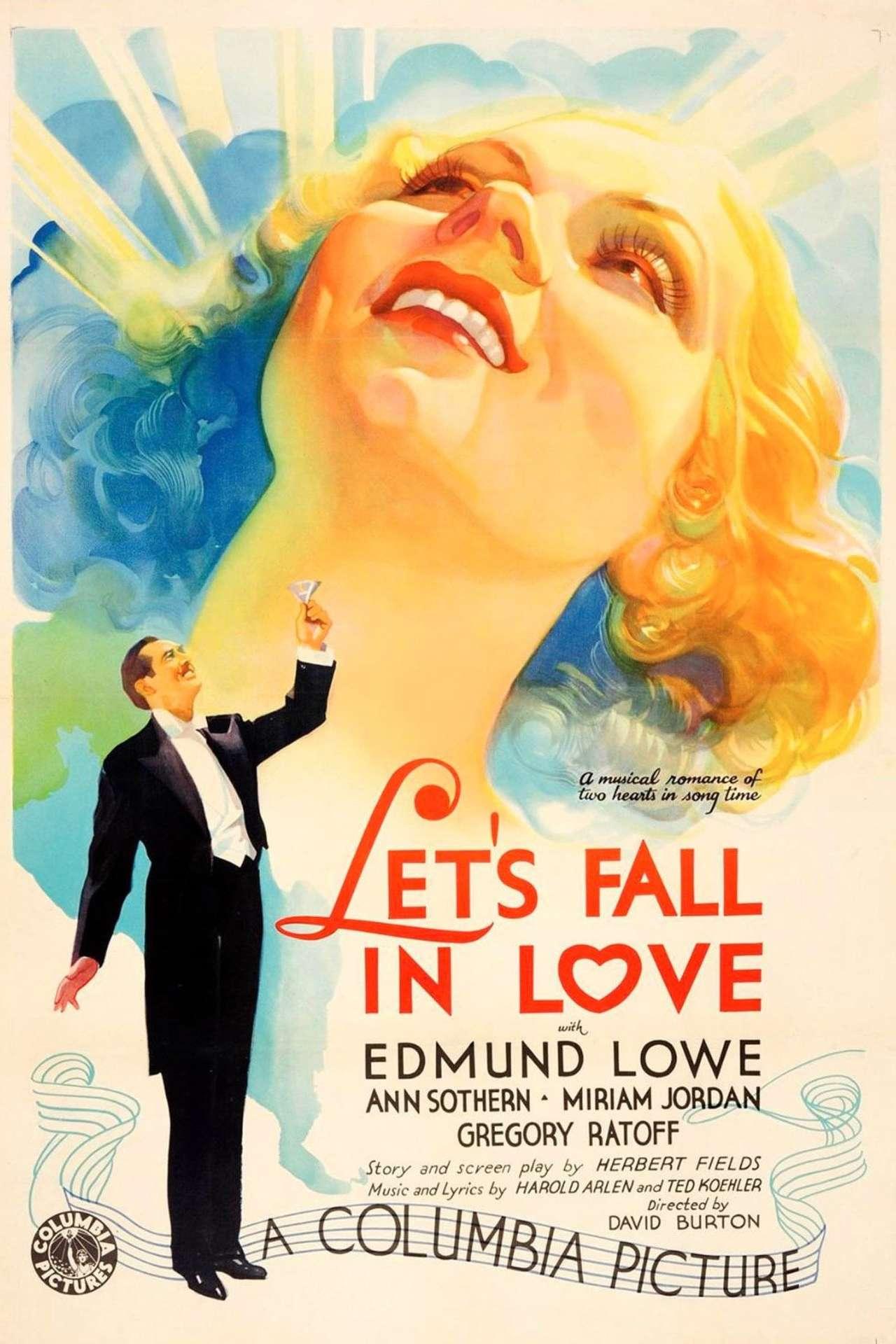 Постер фильма Давай влюбимся 1933