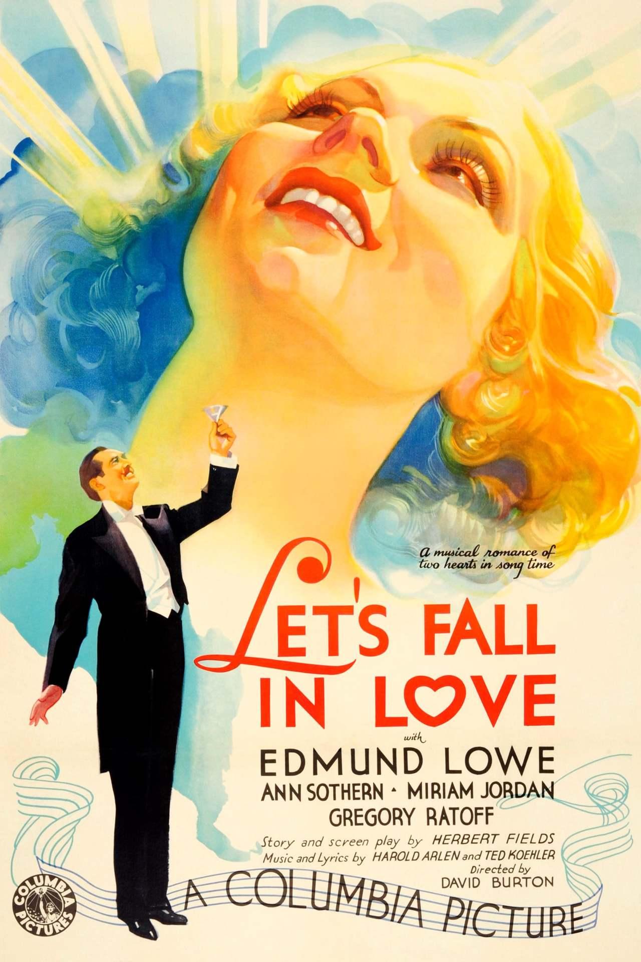 Постер фильма Давай влюбимся Let's Fall in Love 1933