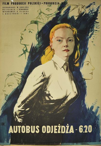 Постер фильма Автобус отходит в 6.20 1953