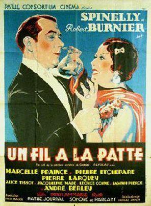 Постер фильма Un fil à la patte 1933