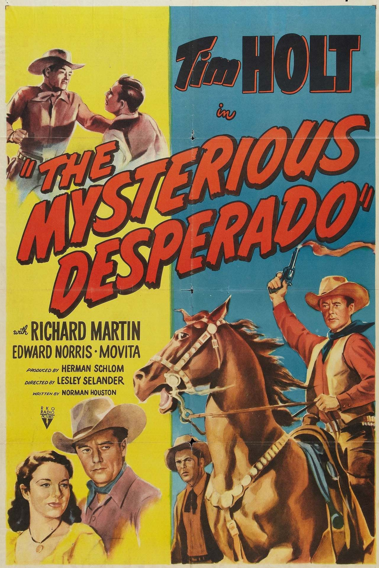 Постер фильма The Mysterious Desperado 1949