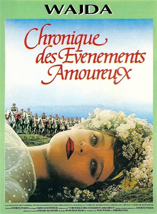 Постер фильма Хроника любовных происшествий 1985