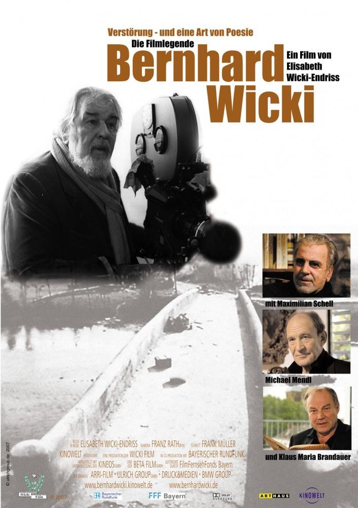 Постер фильма Verstörung - und eine Art von Poesie. Die Filmlegende Bernhard Wicki 2007
