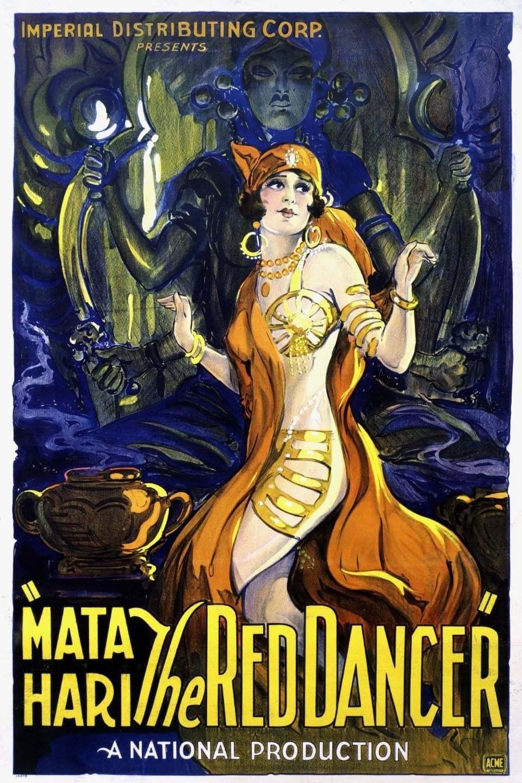 Постер фильма Мата Хари, красная танцовщица 1927