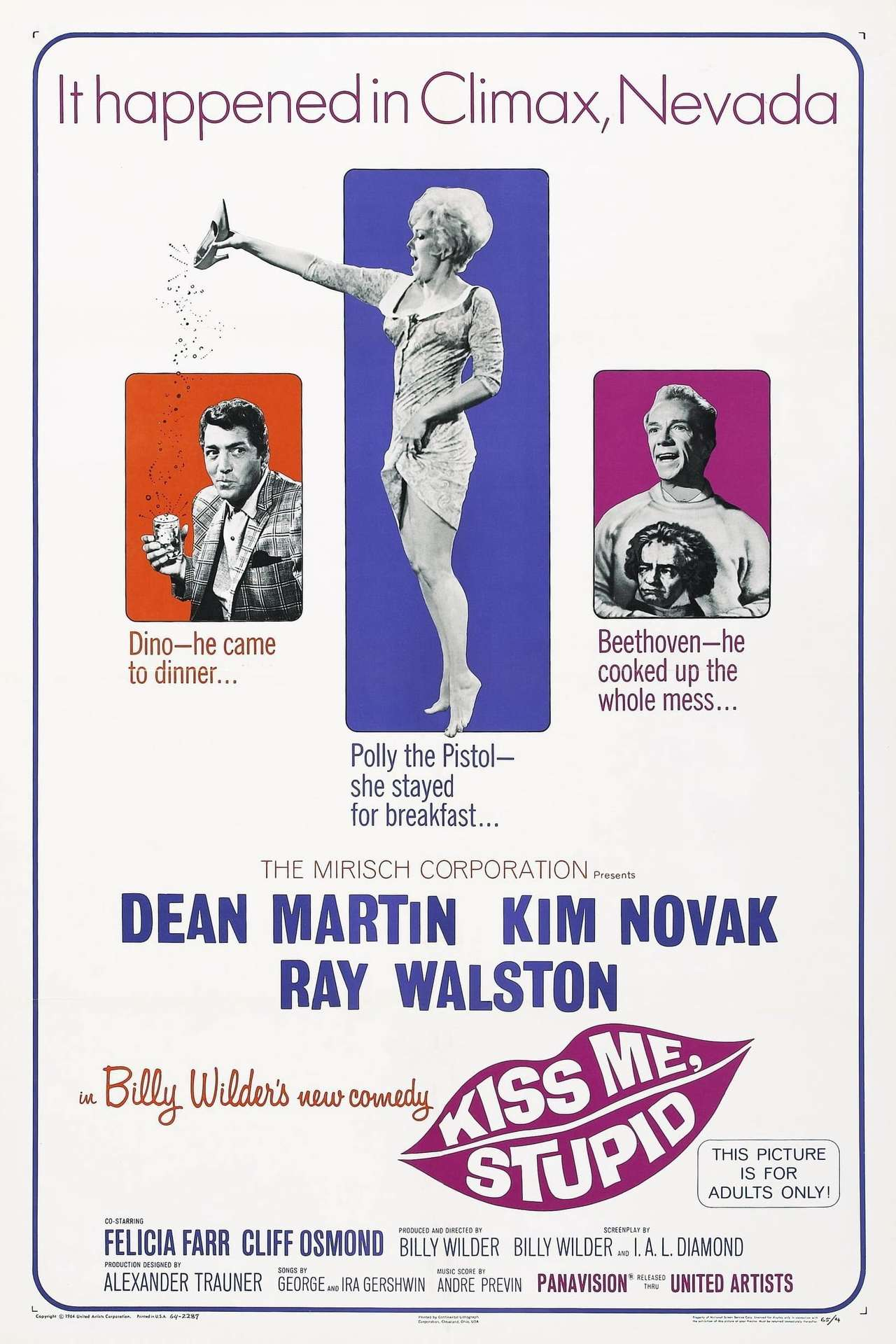 Постер фильма Поцелуй меня, глупенький 1964