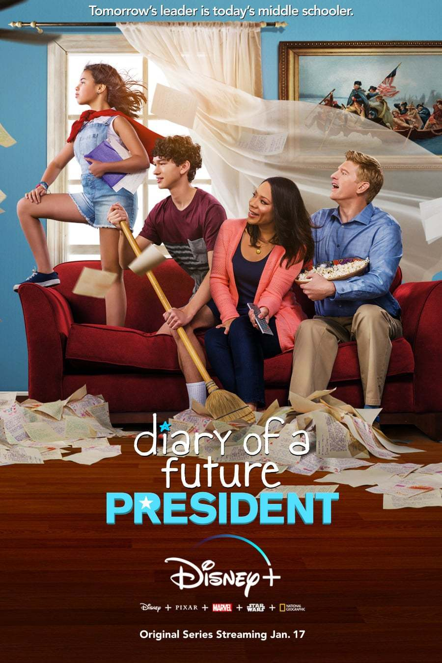 Постер фильма Дневник будущей женщины-президента Diary of a Future President 2020